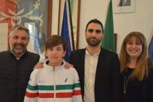 Pomezia abbraccia il baby campione di Tennis Andrea De Marchi