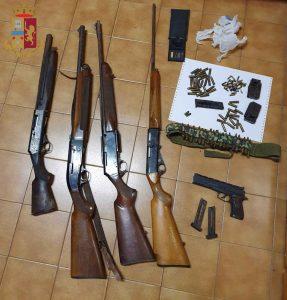 Civitavecchia: Nascondeva in un magazzino 4 fucili ed una pistola
