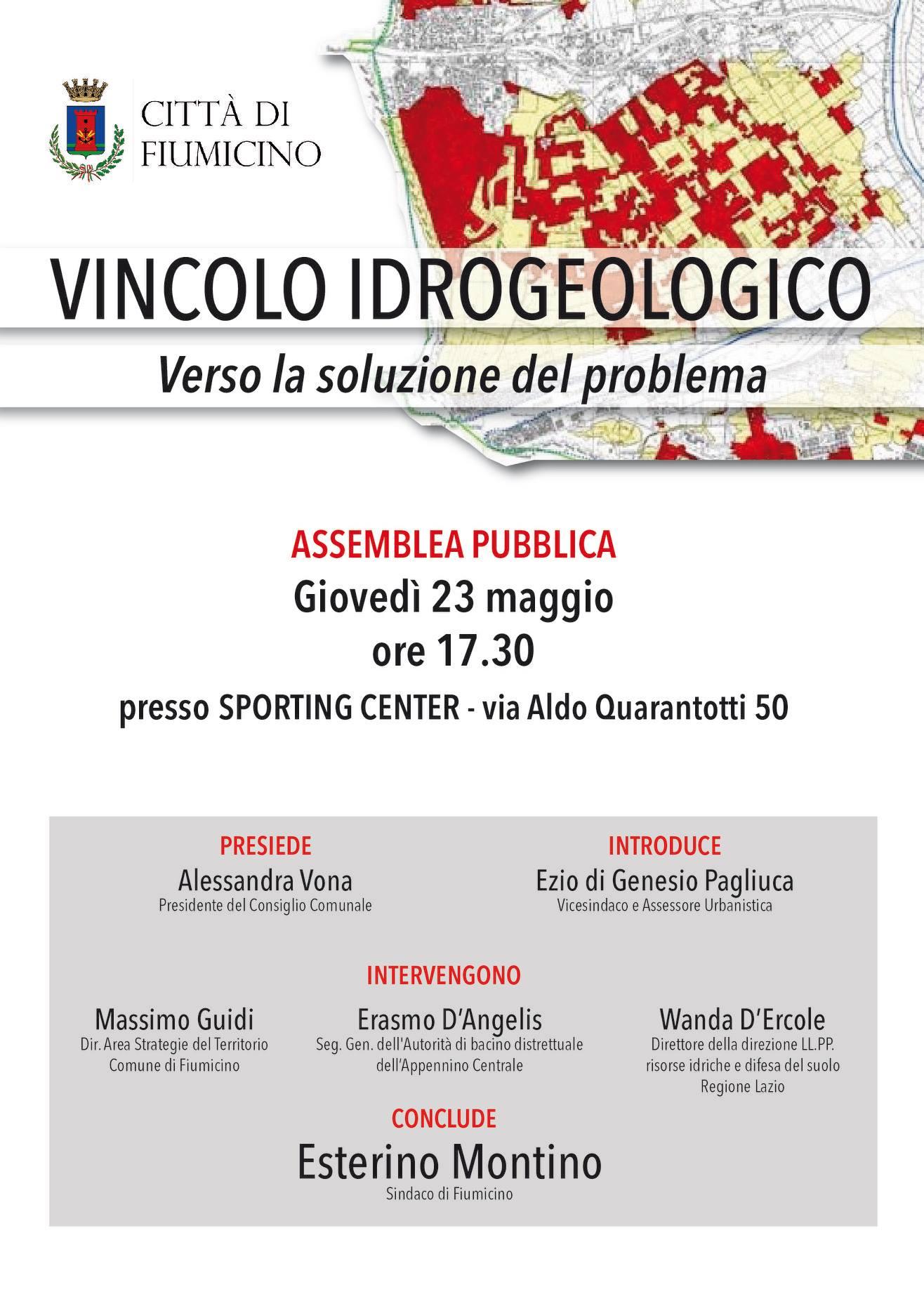 Fiumicino, Vincolo idrogeologico di Isola Sacra: pronta un'assemblea pubblica