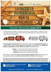 Fiumicino, Parte il Piano estivo 2019 della raccolta differenziata