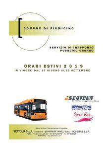 Fiumicino, Trasporto pubblico locale: entra in vigore l'orario estivo