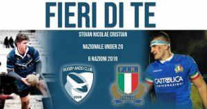 Anzio, Rugby: L'atleta Nicolae Cristian Stoian convocato per il campionato del mondo in Argentina