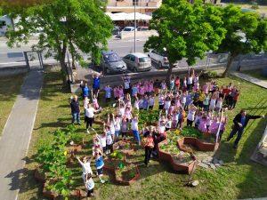 Fiumicino, Scuola di Coni Zugna: inaugurato l'orto attivo