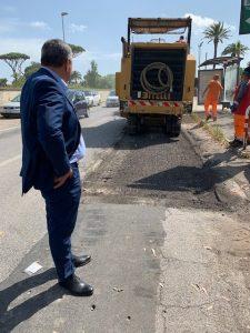 Fiumicino, Maccarese: Iniziati i lavori di rifacimento di via Castel San Giorgio