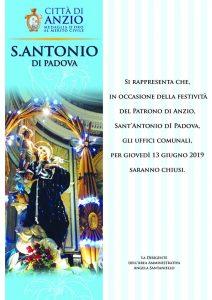 Anzio, Tutto pronto per festeggiare Sant'Antonio di Padova