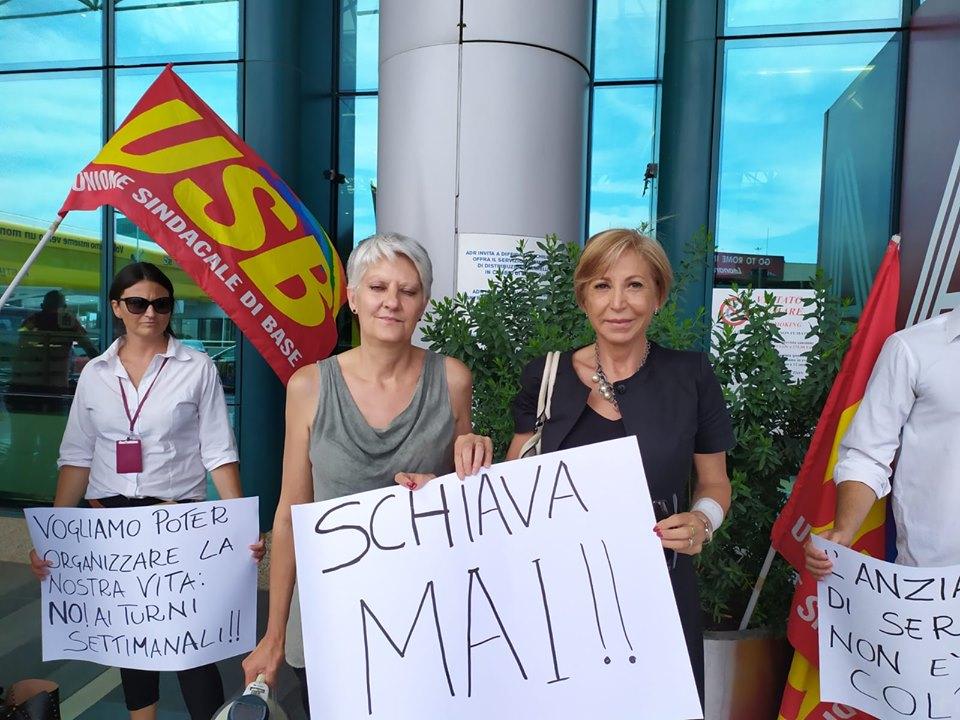 (nella foto l'assessora Anselmi insieme alla rappresentante sindacale Elena Casagrande)
