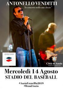 Anzio Estate Blu 2019: Antonello Venditti in concerto