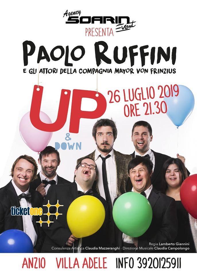 """Anzio Estate Blu 2019, Grande attesa per il capolavoro teatrale di Paolo Ruffini """"Up & Down"""""""