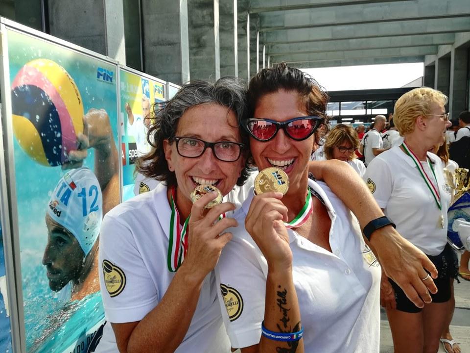 L'anziate Teresa Giordani, con l'ASD Argentario, vince la medaglia d'oro ai Campionati Italiani master di pallanuoto