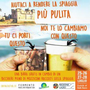 Santa Marinella, Festival delle birre artigianali: Una birrain cambio di mozziconi