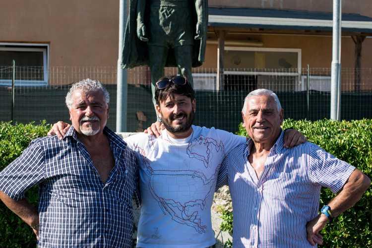 Ernesto Parziale con il presidente Franco Rizzaro e il collaboratore Gino Congedo