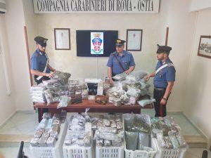 Ostia, Controlli nelle piazze di spaccio: arresti, denunce e quasi 130 kg di droga sequestrati