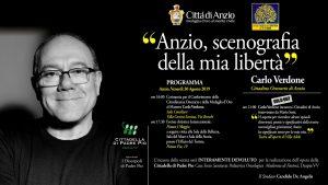 Anzio, Carlo Verdone ringrazia la Città