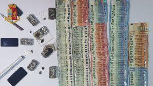 Litorale, Controlli antidroga: sequestrati soldi e hashish