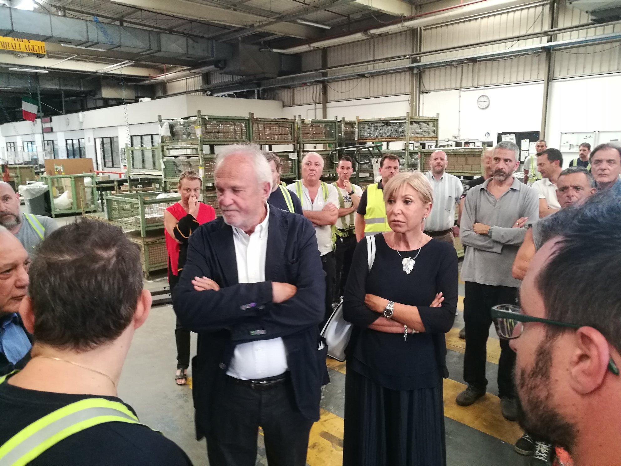 Fiumicino, L'incontro tra lavoratori e Opel