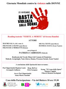 Fiumicino, Giornata contro la violenza sulle donne: gli eventi