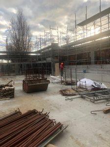 Fiumicino, Proseguono i lavori per la costruzione della nuova palestra della scuola Segré a Isola sacra