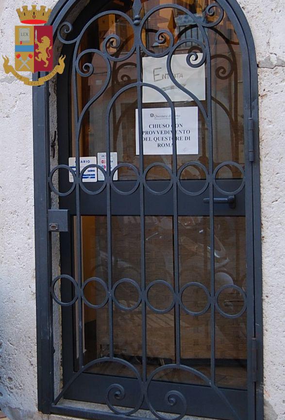 Civitavecchia, Chiuso un locale per motivi di sicurezza