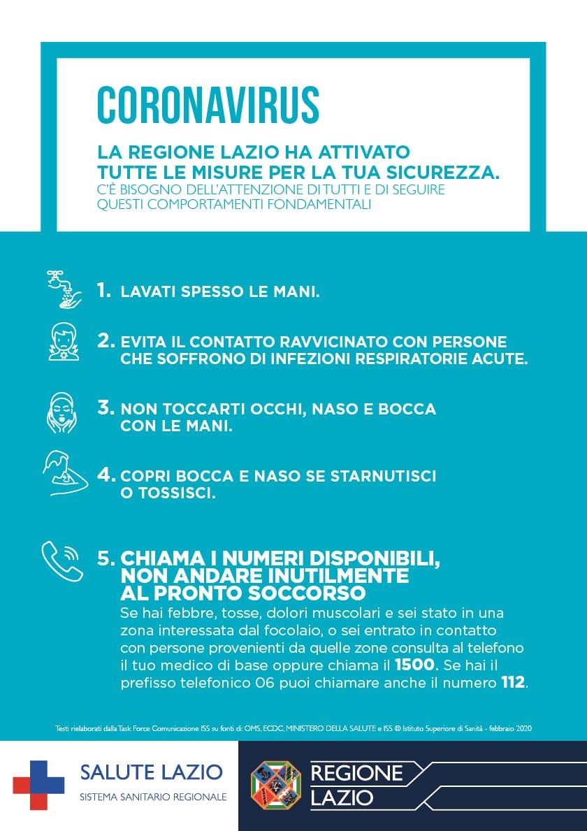 """Fiumicino, Coronavirus, Montino: """"Nessun allarmismo, seguire le direttive della Regione e del Governo"""""""