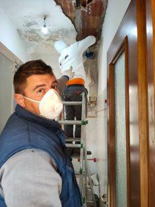 Fiumicino, Operai a lavoro in via Porto di Claudio