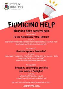Fiumicino, Attiva la quarta linea telefonica per chiedere beni di prima necessità