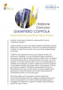 """Pomezia, Al via la I edizione del concorso """"Giampiero Coppola"""""""