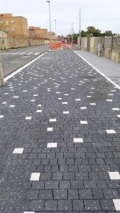 RinasciAnzio: ripresi i lavori per i nuovi marciapiedi, l'arredo urbano e la pista ciclabile